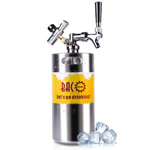 BACOENG 128 Ounce Pressurized Keg Growler Kegerator for Home Brew Beer