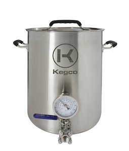 Kegco 6 Gallon Brew Kettle with Thermometer & 3-Piece Ball Valv