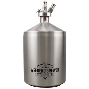 The Weekend Brewer 5L Mini Keg with Ball Lock Tapping System Stainless Steel