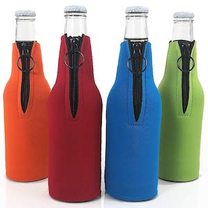 Beer Bottle Coolers with Zipper Premium Neoprene Insulators