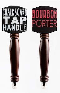 Chalkboard Tap Handle For The Draft Beer Kegerator or Bar (Dark - 2 Pack Bundle)